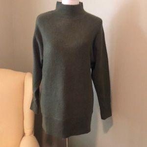 Oversized mock turtleneck sweater